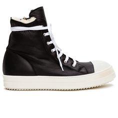 Rick Owens Ramones Shearling-Lined Sneakers