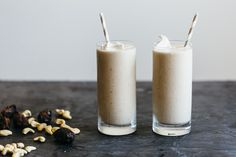 As a California-girl I'm a date shake lover. And this version, while dairy-free, vegan and paleo, tastes exactly like the real-deal Palm Springs date shake.
