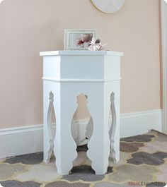 Get FREE plans to build a Pottery Barn Kid's inspired Moroccan side table for only $40. With those gorgeous curved legs, this accent table is the perfect addition to a girl's nursery or bedroom!
