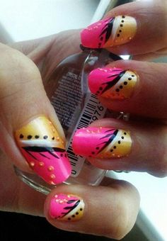 Abstract nail design. by liinii1 - Nail Art Gallery nailartgallery.nailsmag.com by Nails Magazine www.nailsmag.com #nailart