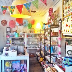 Gift and party boutique at 66 Anderson Street, Yarraville in Melbourne's inner-west. Shop display, shop window, cute shop, design store, gift and party store. VM, visual merchandising