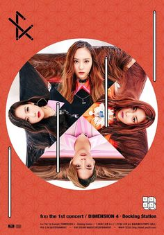 f(x) release some awesome posters for their first solo concert