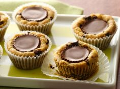Peanut butter-filled cookie cups made gluten free with Pillsbury® Gluten Free refrigerated chocolate chip cookie dough! Theyll be asking for more!