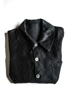 French workwear black moleskin 1900's jacket