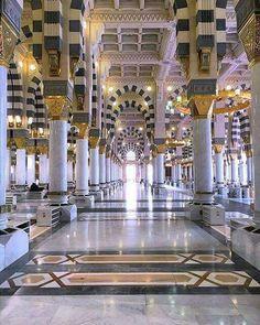 Madina ❤️At night 😍 Masjid Haram, Mecca Masjid, Islamic Architecture, Architecture Design, Arabian Decor, Medina Mosque, Learn Islam, Learn Quran, Mekkah