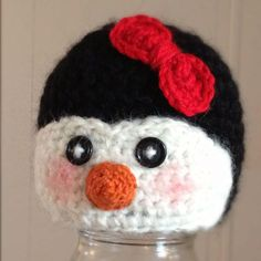Newborn Crochet Penguin hat Made to Order by TinaBoBeanies on Etsy, $24.00
