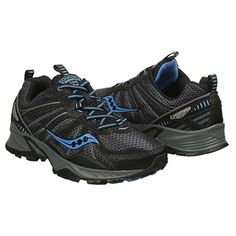 Saucony Grid Excursion TR 8 Wide Trail Running Shoe Black/ Blue