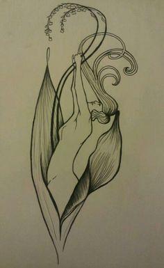 Art Nouveau Tattoo Design that I drew