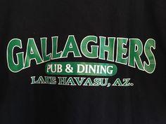 Vintage T Shirt Gallagher's Bar Pub Lake Havasu City, AZ  #Anvil #EmbellishedTee