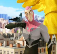 """""""M. Pigeon"""" est le sixième épisode de Miraculous: Les aventures de Ladybug et de Chat Noir. Un concours de mode a lieu au collège Françoise Dupont et Marinette espère bien le gagner. Pendant ce temps, M. Ramier, amoureux des pigeons, est akumatisé par le Papillon et devient M. Pigeon."""