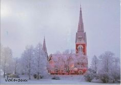 Postcard from Finland ~ Joensuu Evangelical Lutheran Church  www.postcrossing.com
