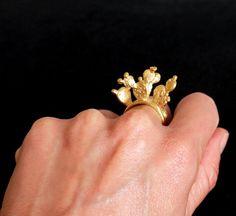 Fleur de Cactus Nopal ring by sophiesimone on Etsy, $78.00