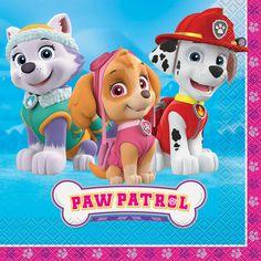 Girl PAW Patrol Party Napkins | PAW Patrol Girl Birthday Party Supplies