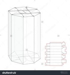 Octagonal Tube Retail Box With Die Cut Template Stock Vector Illustration 344354051 : Shutterstock