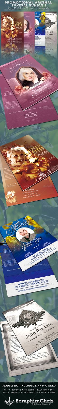 Funeral Program Service Template Program template, Funeral and - funeral announcements template