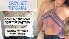 DIY Crochet Crop Top // Gone w/ the Wind Halter Top