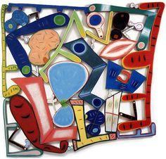 "Elizabeth Murray ""The Lowdown"" 2001, Oil on canvas and wood"