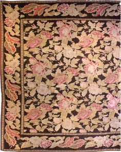 A Russian Bessarabian rug BB0608 - by Doris Leslie Blau.  An exception example from our collection of late 19th century Russian Bessarabian antique rugs, having a chocolate ...