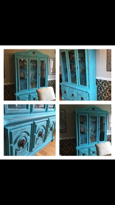 Painted curio cabinets on pinterest curio cabinets cabinets and