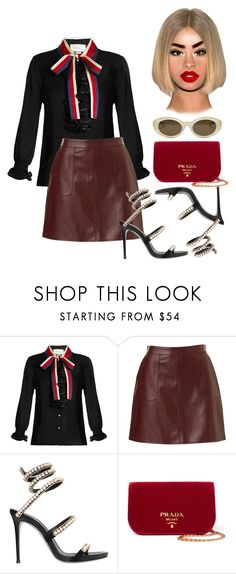 """""""millennial boss"""" by fashion-is-my-passion-14 on Polyvore featuring Gucci, René Caovilla, Prada and Elizabeth and James"""