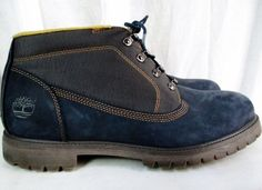Mens TIMBERLAND WATERPROOF 12039 Lace Up Leather HIKING Work Boots All Terrain Shoes BLUE13