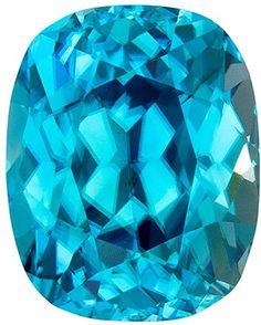 Classic Zircon Loose Gem in Cushion Cut, Medium Rich Blue, 11.4 x 9.1 mm, 6.98 carats by AfricaGems on Etsy https://www.etsy.com/listing/245130227/classic-zircon-loose-gem-in-cushion-cut
