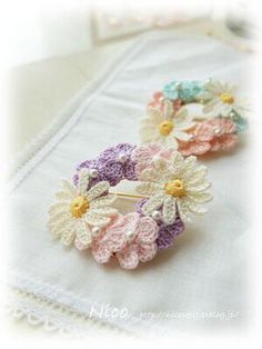 Fashion : DIY   Fleurs crochet