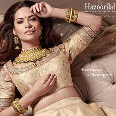 #GleamingGold -Usher in the festivities wearing this handcrafted masterpiece from the House of #HazoorilalBySandeepNarang  #SparklingSeptember #CampaignHazoorilal @egupta #Gold #22kt #Enamelling #IndianJewellery #BridalJewellery #WeddingJewellery #TrousseauCollection #BridalLooks2016 #HLbySN #ItcMaurya #DlfEmporio #HazoorilalJewellersGK #Hazoorilal