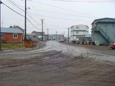 Barrow, Alaska -This is from the corner at Top of the World Hotel, looking South down Stevenson St.