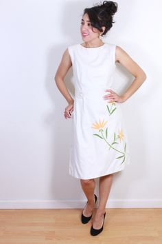 1960s Sweet White Dress by VintageRevival818 on Etsy
