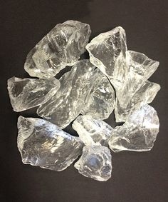 AZ Patio Heaters Ice Clear Recycled Fire Glass RGLASS-IC is a great complement for fire pits and gas fireplaces which helps to obscure gas plumbing and add to Fire Pit Accessories, Fireplace Accessories, Glass Fire Pit, Fire Pits, Colors Of Fire, Glass Rocks, Patio Heater, Outdoor Fire, Outdoor Living