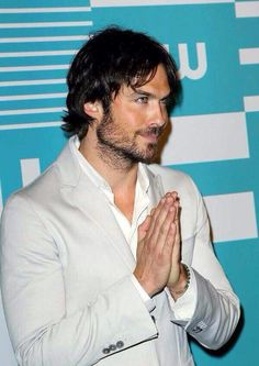Ian Somerhalder at #CWUPFRONT #TVD (05/14/15)