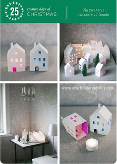 No candles, but cute houses!