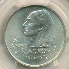 Czechoslovakia Silver 1972 20 Korun Andrej Sladkovic MS67 PCGS Low Mintage  SOLD!