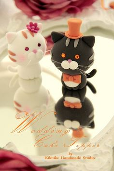 LOVE ANGELS Wedding Cake Topper-love cat,love kitty by charles fukuyama, via Flickr
