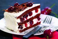Tort de brânză cu vişine şi frişcă | Click! Pofta Buna! Tiramisu, Cheesecake, Food And Drink, Ethnic Recipes, Desserts, Cakes, Tortilla Pie, Sweets, Deserts