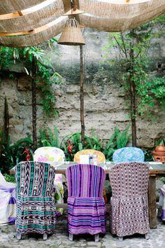 Guatemalan fabric seat covers
