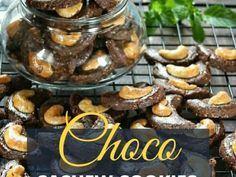 Choco Cashew Cookies Cashew Cookies Recipe, Cookie Recipes, Beef, Fruit, Cooking, Food, Recipes For Biscuits, Meat, Kitchen