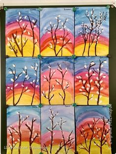 Spring Arts And Crafts, Fall Crafts, Diy And Crafts, Paper Crafts, Art Lessons For Kids, Art Lessons Elementary, Diy Toy Box, Chula, Diy Christmas Cards