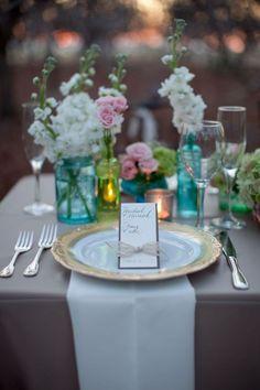 Trendy Wedding, blog idées et inspirations mariage ♥ French Wedding Blog: Centres de table : le mieux est l'ennemi du bien