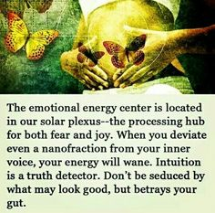 Trust in your intuition.