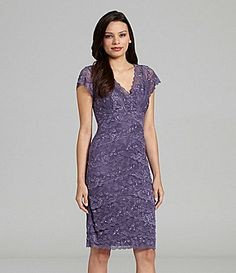 Marina Beaded Lace Dress #Dillards