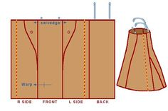 I haven't seen this pattern for the Viking apron-dress before, but it makes sense. The trim on the side is wrong, though; on the extant piece from Hedeby, the trim was placed over a dart.