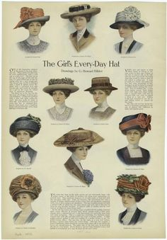 The Girl'S Every-Day Hat, Ladies' Home Journal, 1910