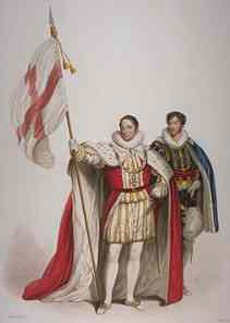 The Standard of St George  borne by Baron,  Lieutenant General Lord Hill
