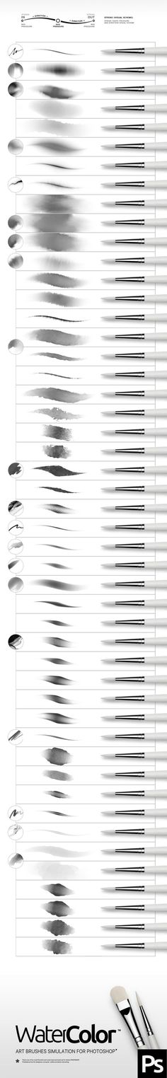 Watercolor Photoshop Brushes. Download here: http://graphicriver.net/item/watercolor-brushes/15815666?ref=ksioks