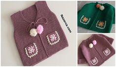 12-orgusu Bu Ebruli Degrade Bebek Örgü Crochet Bebe, Knit Crochet, Moda Emo, Baby Vest, My Hairstyle, Baby Knitting Patterns, Knitted Hats, Coin Purse, Create