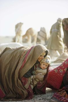Kuchi woman and child, Afghanistan, 1968.
