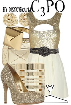 """""""C3PO"""" by lalakay ❤ liked on Polyvore"""