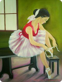 Bailarina em óleo sobre tela  by Gostinho Bom